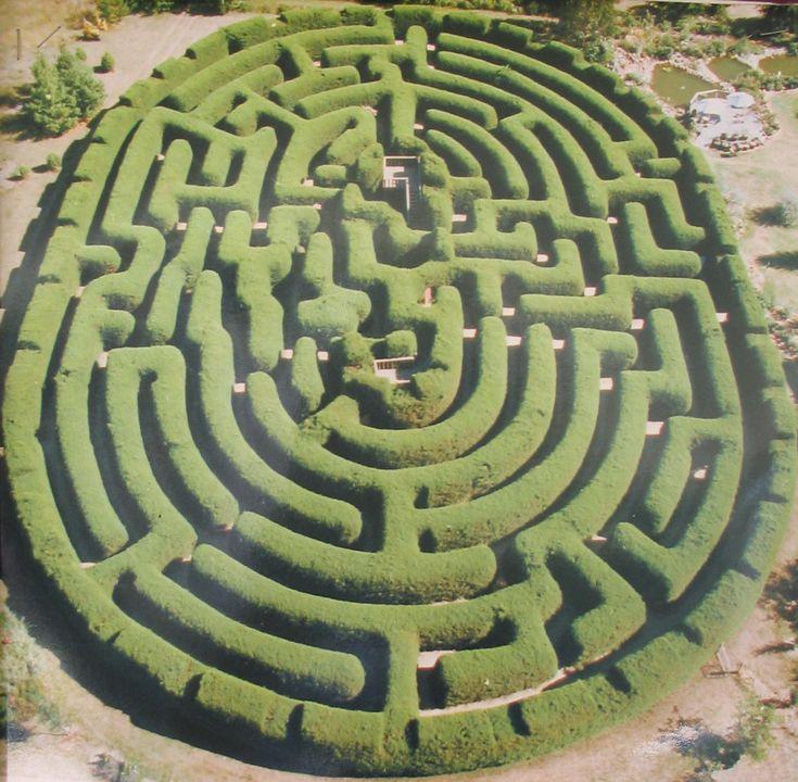 Amazing Maze Labyrinth Garden Mazes Images Pinterest
