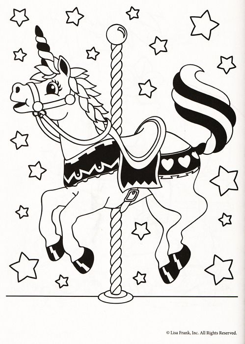 Lisa Frank Coloring Page PM