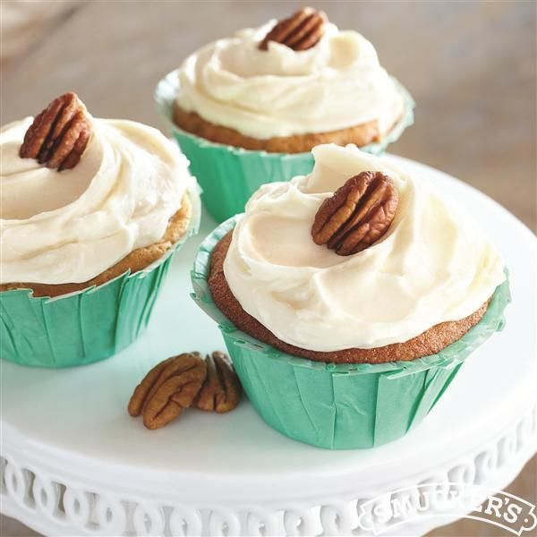 Brown Butter-Pecan Cupcakes with Cream Cheese Frosting from Smucker's ...