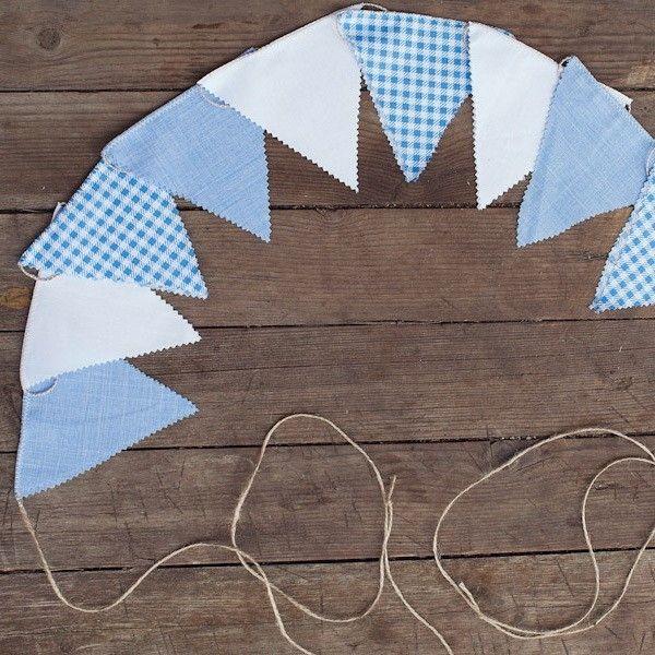 Как сделать гирлянду из флажков из ткани