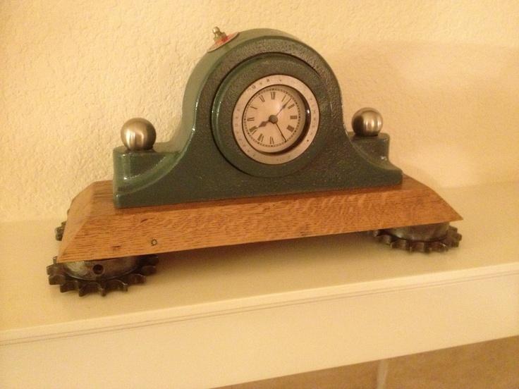 Pin by denise longoria on steampunk pinterest - Steampunk mantle clock ...