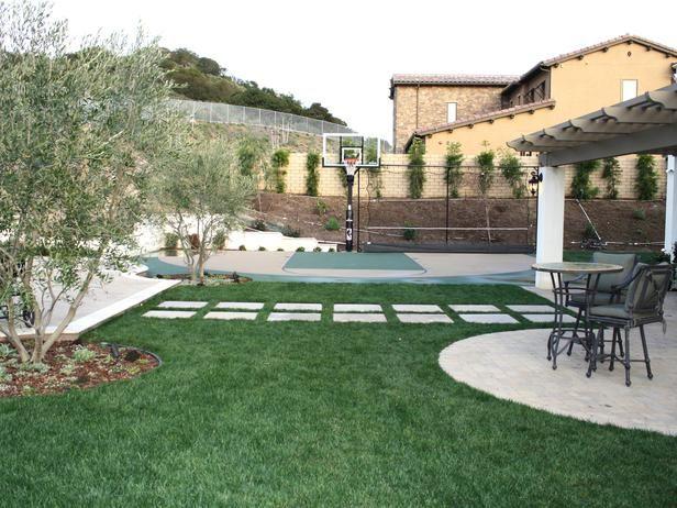 Build Basketball Court In Backyard : basketball court backyard  Yard  Pinterest