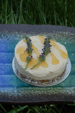 "Lavender honey ""un-cheesecake""--hm... 