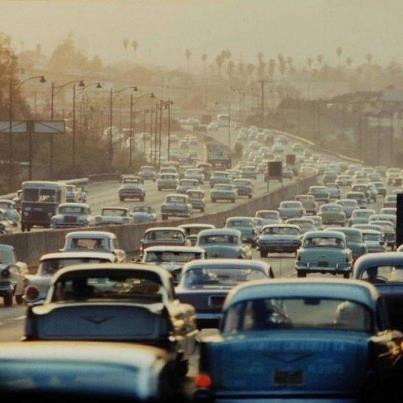 L.A Traffic Late 50's.