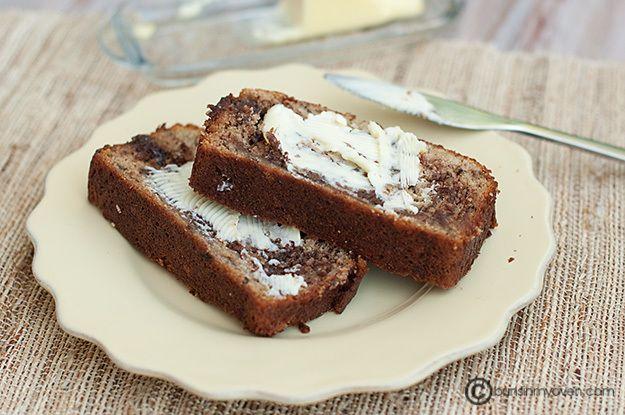 Nutella Swirled Banana Bread | Recipe