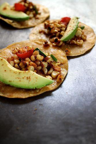 Charred corn tacos. | Healthy Living | Pinterest