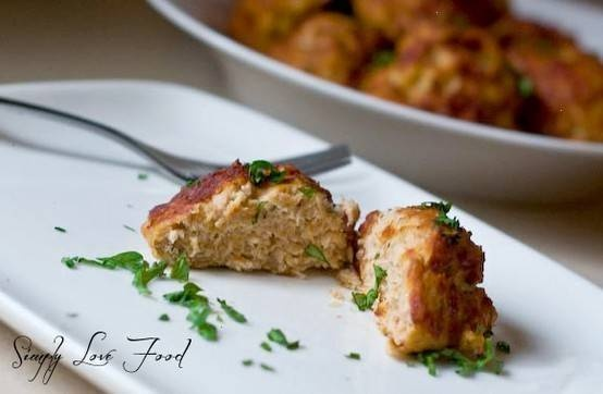 baked chicken meatballs | POULTRY | Pinterest