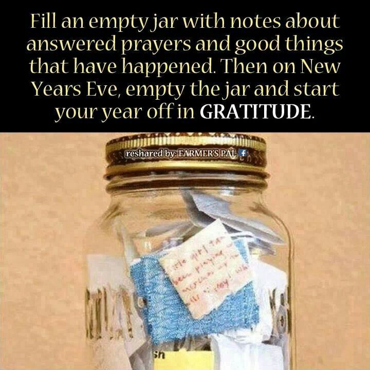 gratitude jar inspirational pinterest