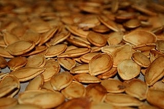 Make your own toasted pumpkin seeds- very easy and healthy snack.