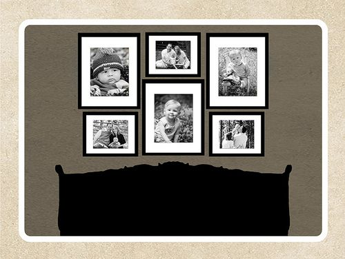 over the bed photo display
