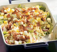 Salads and Salad Dressing - Uptown Layered Cobb Salad