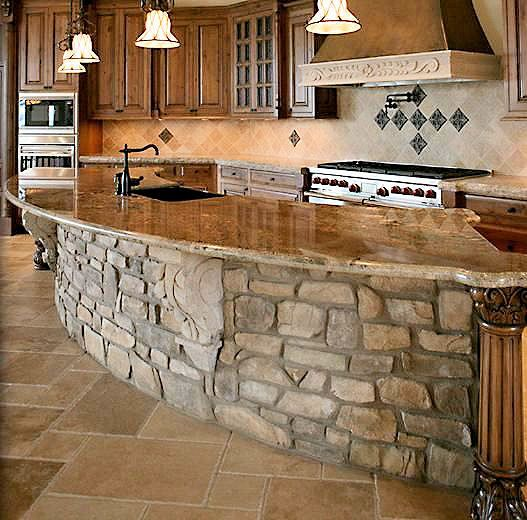 Stone Kitchen Island on Pinterest