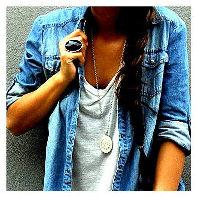 Denim Shirt. #fashion #style #streetstyle #trending