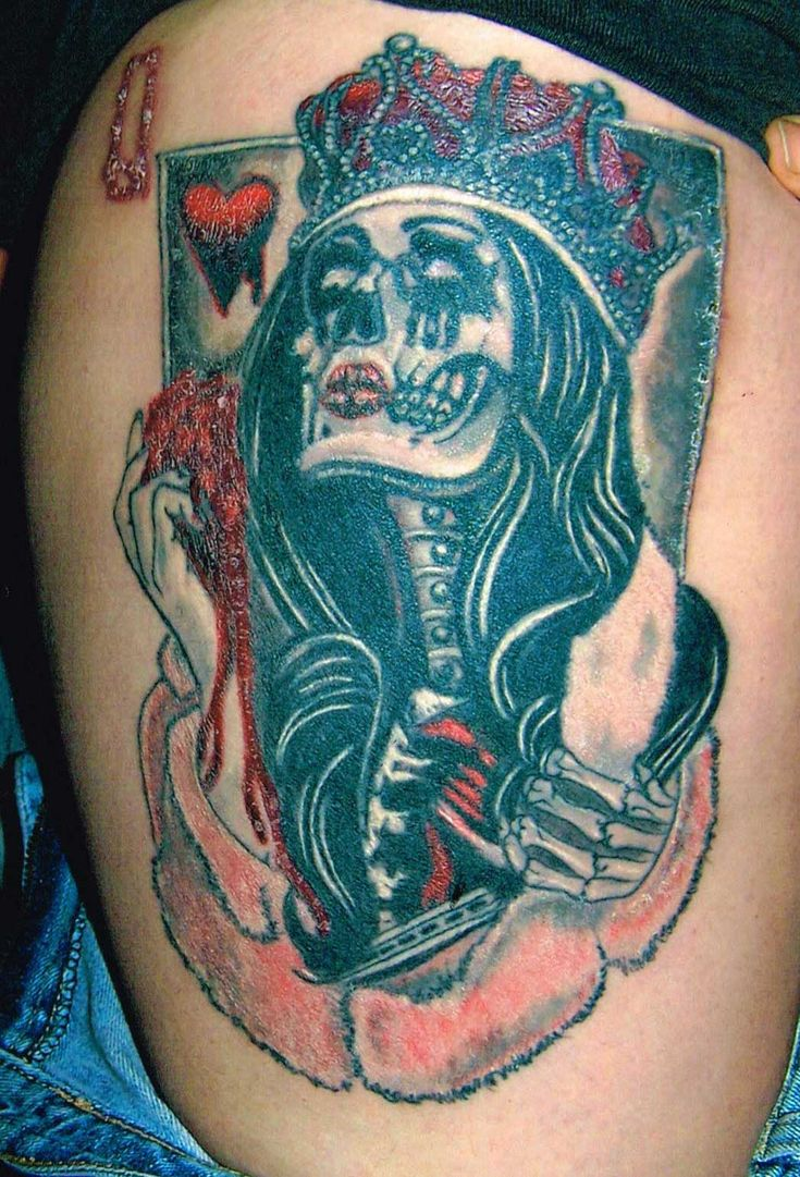 Queen of Hearts #Tattoo by Ken Evans | The Queen Of Hearts ...