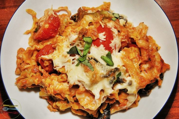quick and easy chicken caprese pasta bake