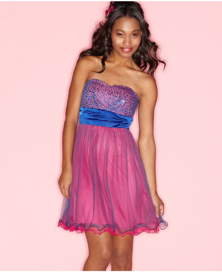 Contemporáneo Junior Vestidos De Dama Macys Foto - Ideas para el ...
