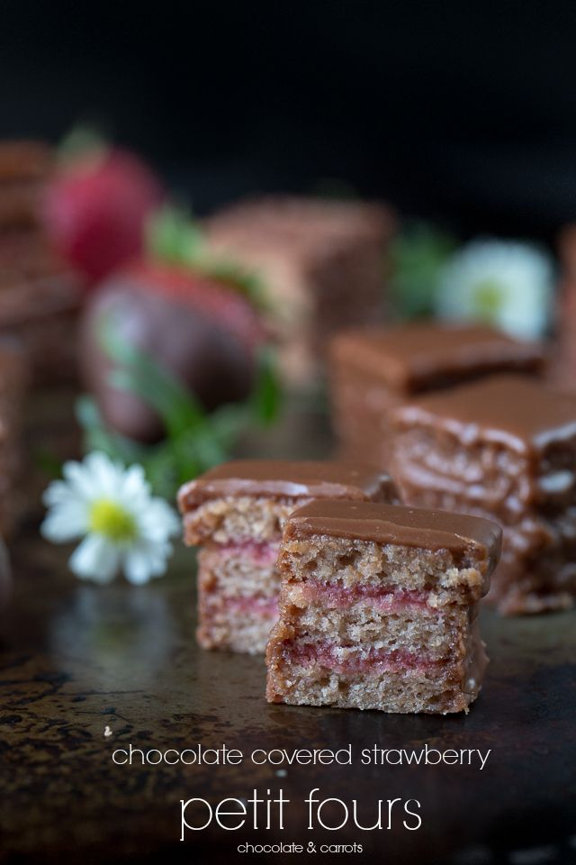 Chocolate Pomegranate Petit Fours Recipes — Dishmaps