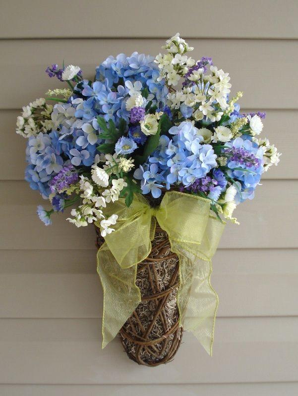 Spring door decor fleurs and gardens pinterest - Window decorations for spring ...