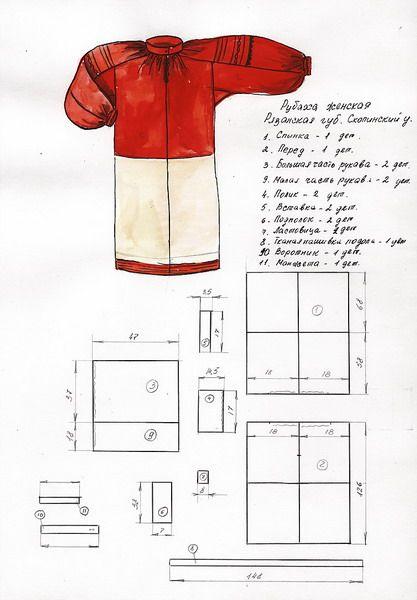 Как сшить народный костюм русский народный 62