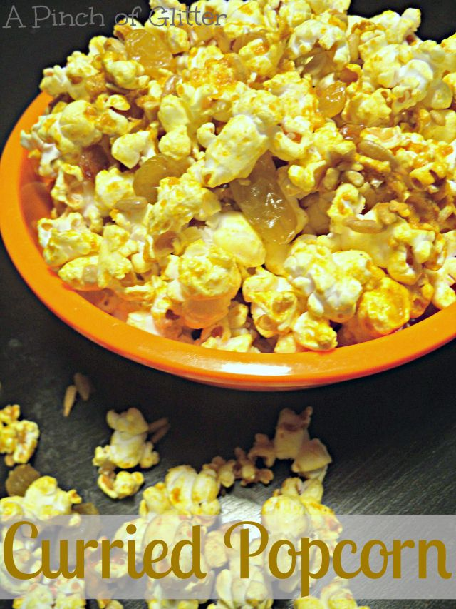 Curried Popcorn: A Pinch of Glitter | Need a Snack? | Pinterest