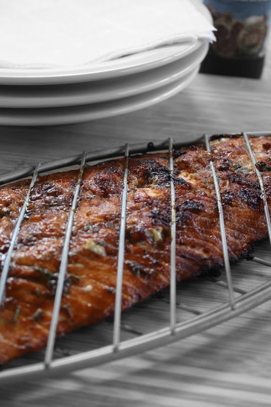 Grilled Salmon with Pomegranate Molasses and Chives | I like to cook ...