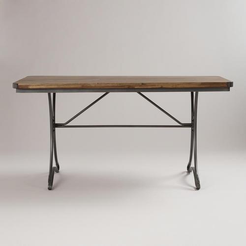 Jackson Rectangular Table with Metal Base - World Market