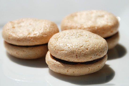 Chewy Amaretti Sandwich Cookies | Deserts | Pinterest