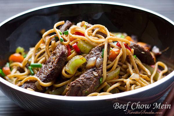 Chow Mein, noodles + beef | PASTA | Pinterest