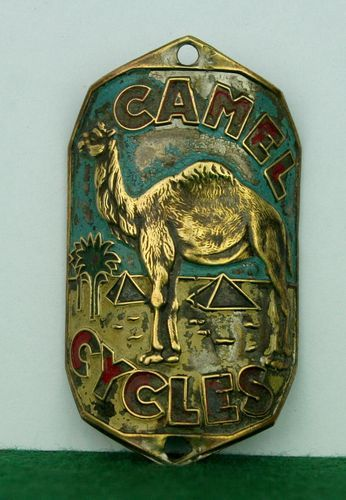 Old Headbadge Camel Cycles Old Bicycle Badge Plate Emblem Lefol Simplex | eBay