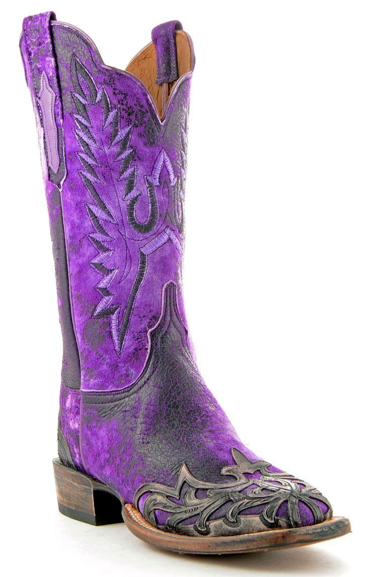 Innovative Boots  Womens Footwear  Women39s Caiman Print12in Purple Top Cowboy