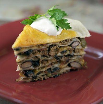 Stacked Tortilla Pie | FOOD: Tex-Mex | Pinterest