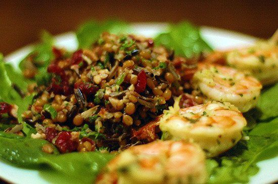 Red Wheat Berry Salad - this was delicious! Good warm or cold, with ...
