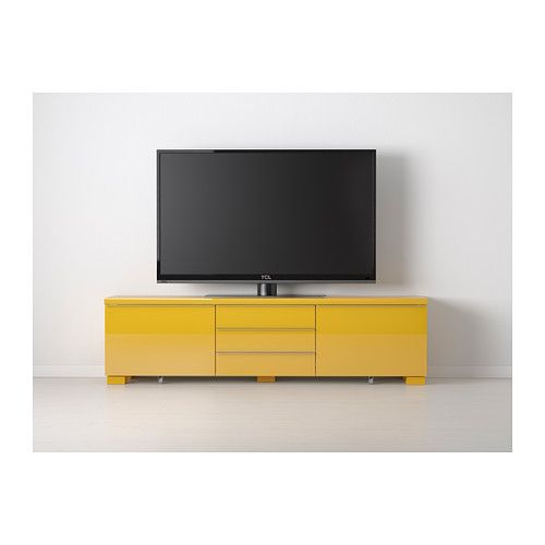 Best burs tv unit high gloss yellow - Meuble tv ikea besta burs ...