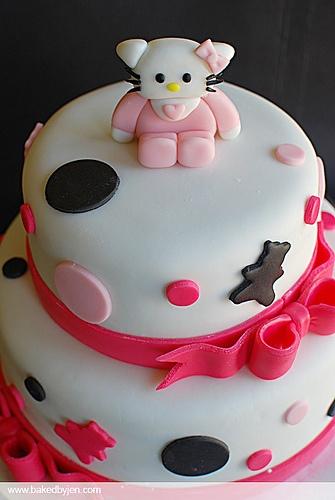hello kitty baby shower cake cake ideas pinterest