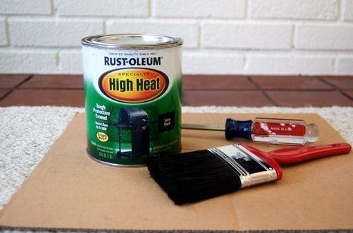 High Heat Fireplace Paint Re Do Pinterest