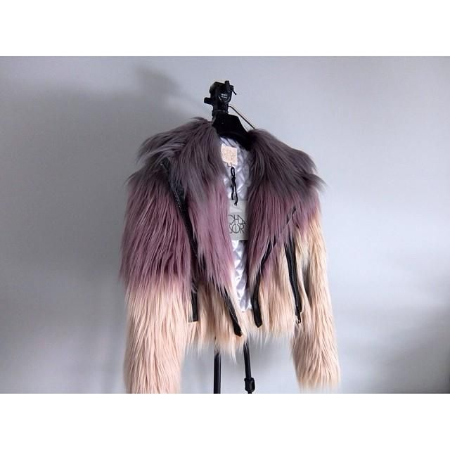 Chaser Dream Faux Fur Moto Coat, Nasty Gal, Nasty Gal Faux Fur, Nasty Gal Rainbow Faux Fur, rainbow fur, ombre fur, dip dye fur, faux fur coat,