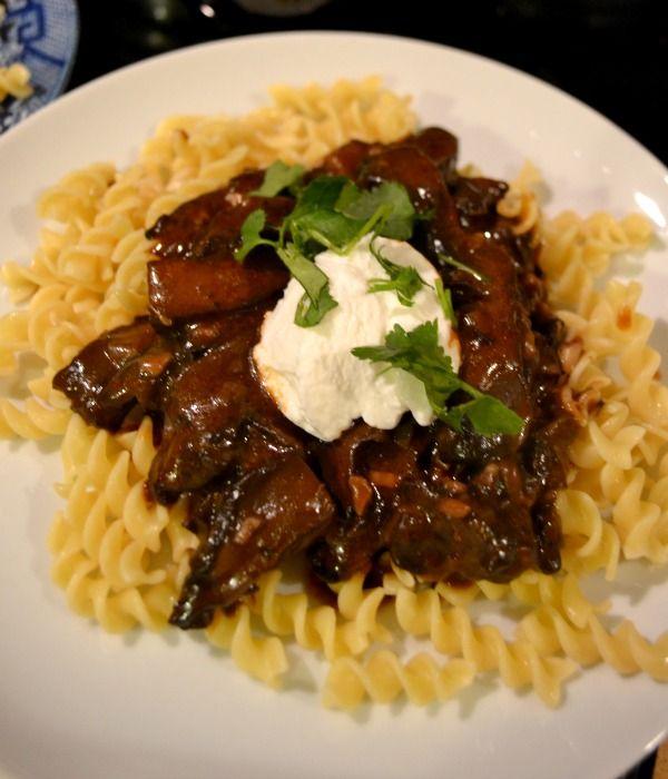 Mushroom Bourguignon (Vegan) | Delicious Food Stuffs | Pinterest