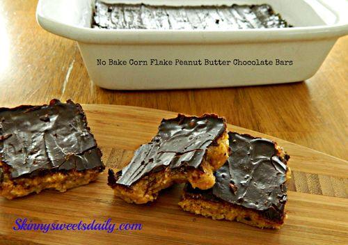 No bake corn flake peanut butter bars | I'm Hungry | Pinterest