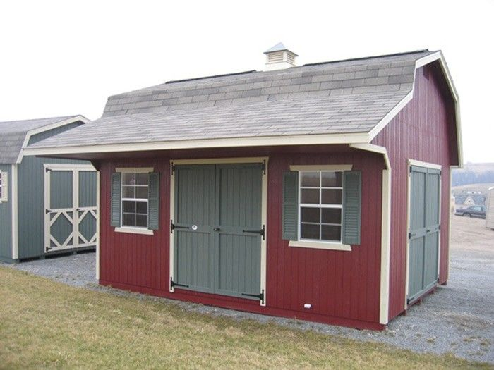 Amish made classic small barn panelized kit with overhang for Small shed kits