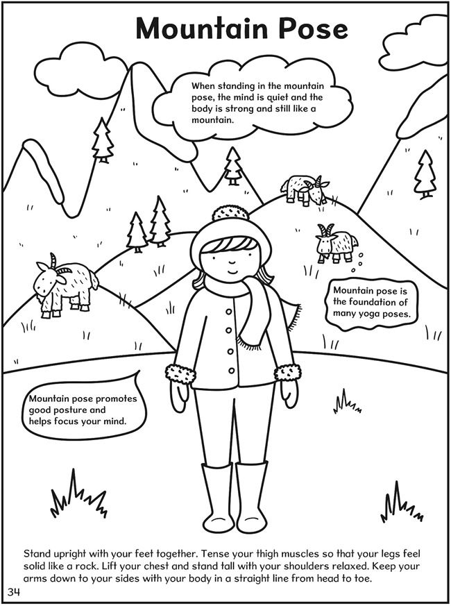 free kids yoga coloring pages - photo#14