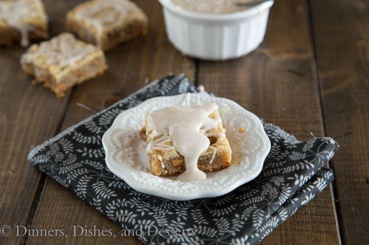 Cinnamon Blondies | Recipe
