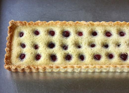 Raspberry (or Cherry)-Brown Butter-Creme Fraiche Tart
