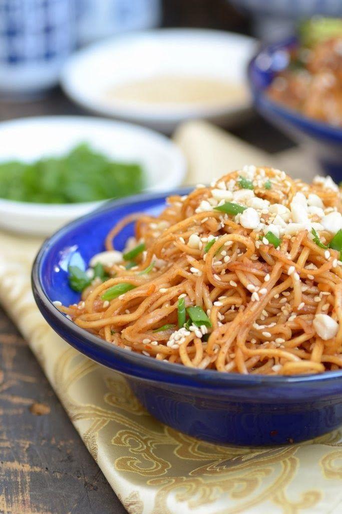 Spicy Sesame Peanut Noodles   Recipes/Food   Pinterest