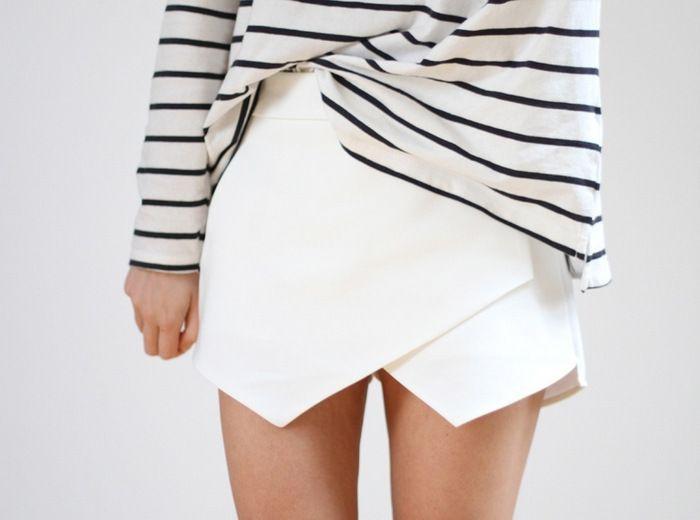 white hot Zara skort