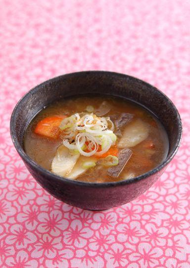 Tonjiru or Butajiru - both literally mean pig/pork soup - is a ...