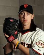 Pitcher Tim Lincecum of the San Francisco Giants poses during spring training photo day. #SpringTraining