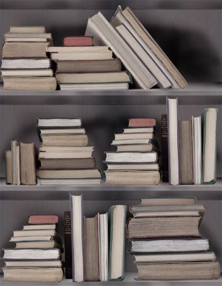 Boekenkast behang  Inrichting-huis.com  Bookshelves  Pinterest