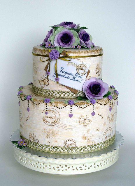 Love letter vintage cake.Tiene todo el sabor de una película antigüita, romantica, con final felíz.De esas que te hacen llorar, reir y suspirar.