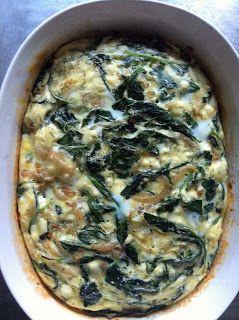 Breakfast Bake: Egg, Baby Kale, & Feta | Want in my belly | Pinterest