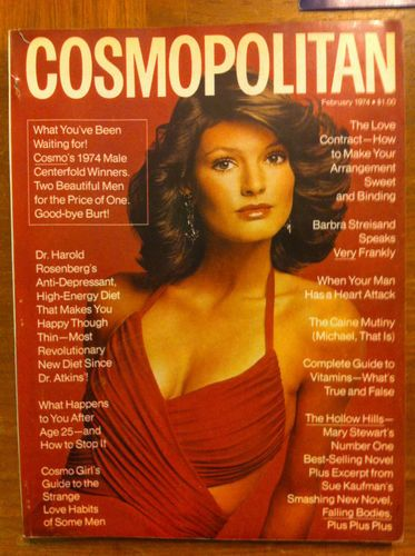 February 1974 cover with Barbara Minty | Favorite Cosmo ...